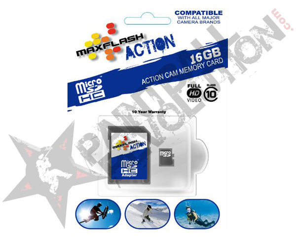 Max Flash 16GB Action microSDHC