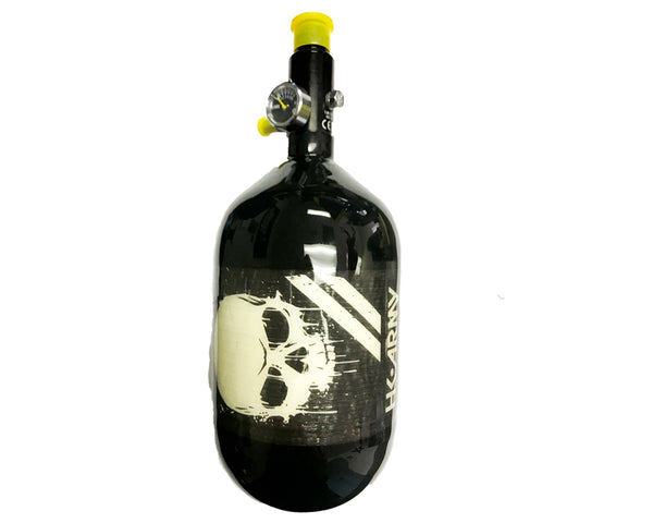 HK Army Aerolite Extralite 68/4500 Carbon Fiber Paintball Air Tank Skull