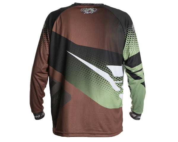HK Army Retro Paintball Jersey Edge Brown Olive L
