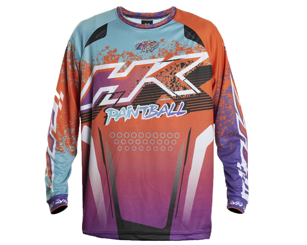 HK Army Retro Paintball Jersey Liquid Orange Teal XL
