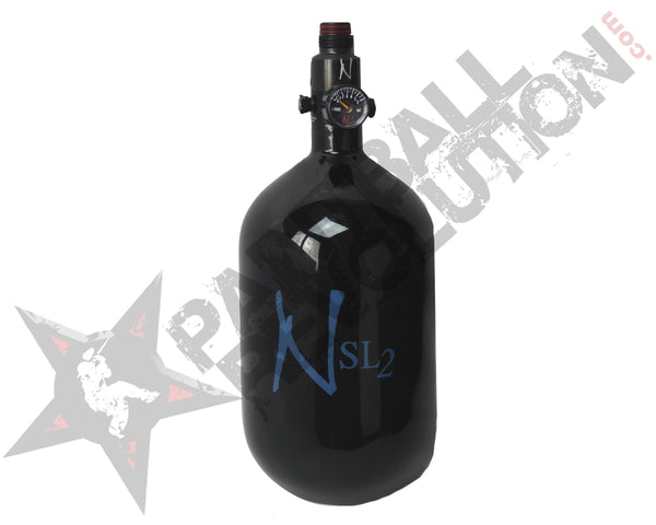 Ninja SL2 Black Blue Carbon Fiber Air Tank 68/4500 w Standard Adjustable Reg