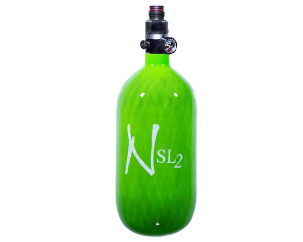 Ninja SL2 Lime Old Hydro Carbon Fiber Air Tank 45/4500 w Adjustable Reg