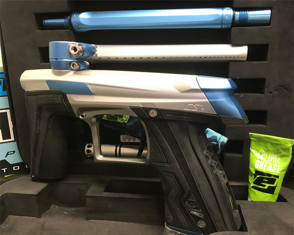 USED Planet Eclipse CS1 Paintball Marker Gun Silver Blue