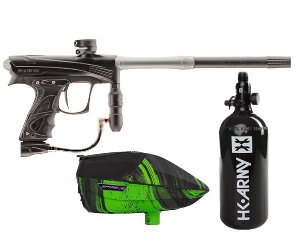 Dye Rize CZR Paintball Marker Gun Black Grey Package Lime IR