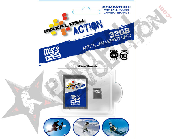 Max Flash 32GB Action microSDHC