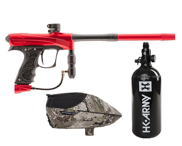 Dye Rize CZR Paintball Marker Gun Red Black Package Highlander IR
