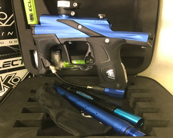 USED Planet Eclipse Etek 5 Blue Black w OLED and Freak XL Barrel