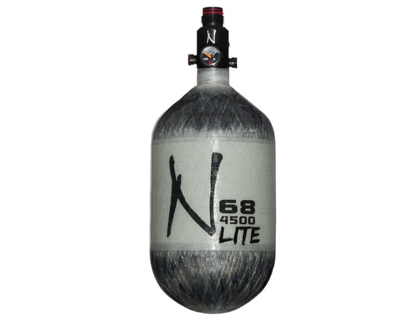 Ninja Lite Grey Carbon Fiber Air Tank 68/4500 w Standard Adjustable Reg