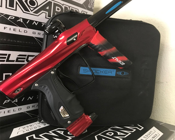 USED SP Shocker RSX Paintball Marker Gun Red Black