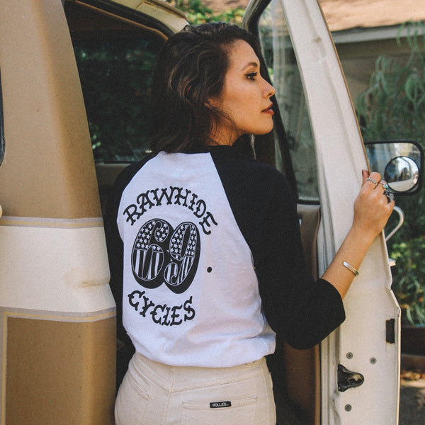 Rawhide Cycles x Austin Maples 69 Baseball Tee