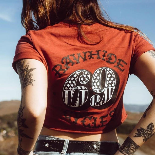 Rawhide Cycles x Austin Maples 69 Tee