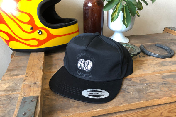 Black Rawhide Cycles x Austin Maples 69 Snapback Hat