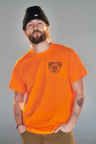 Rawhide Cycles Born Free or Bust Tee in Orange
