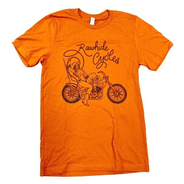 Rawhide Rodeo Queen Tee in Vintage Orange