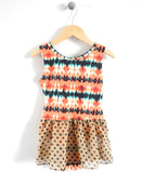Tiny Dancer Leotard in Ikat Dots