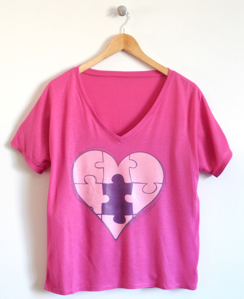 Piece of My Heart Ladies T-Shirt in Black