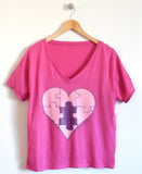 Piece of My Heart Ladies T-Shirt in Berry