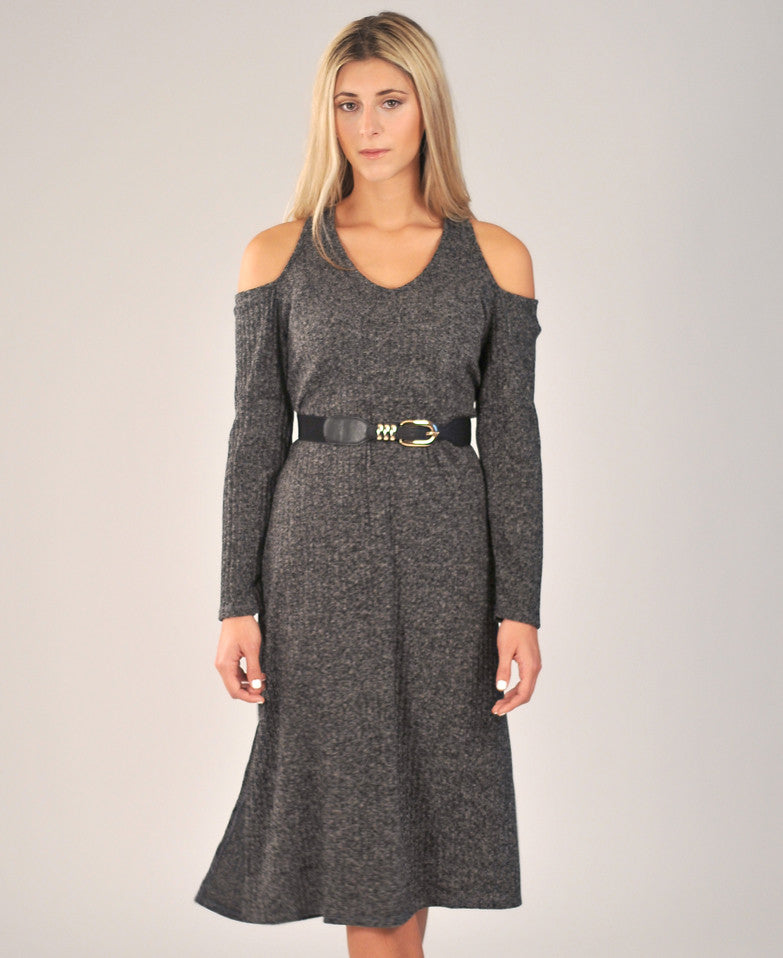 Ashland Sweater Dress in Grey