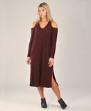 Ashland Sweater Dress in Burgundy