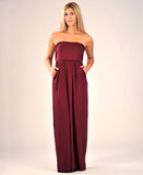 Riviera Maxi Dress in Burgundy