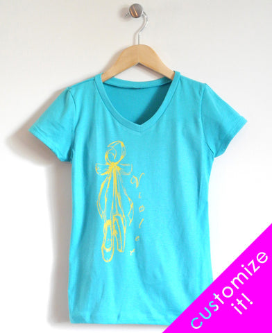 Ballet Kids T-Shirt in Turquoise