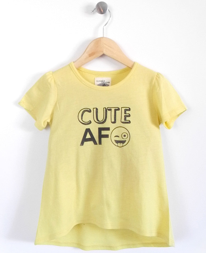 Cute AF Girls Tunic in Yellow