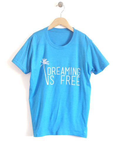 Dreaming Free Kids T-Shirt in Blue