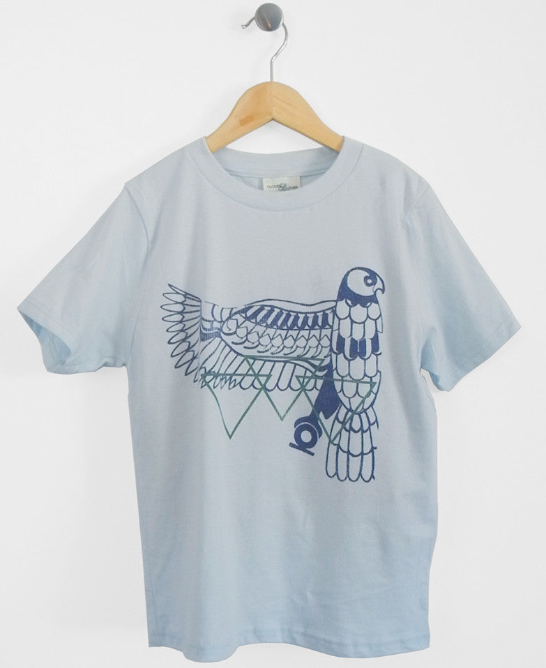 Vintage Eagle Kids T-Shirt in Light Blue