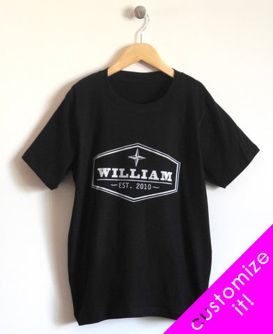 Established Kids T-Shirt in Black