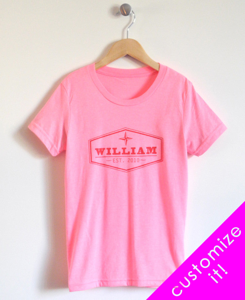 Established Kids T-Shirt in Pink