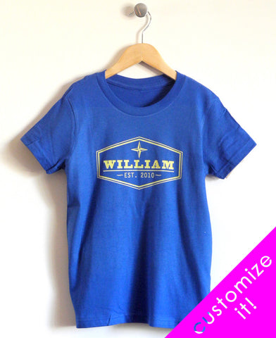 Established Kids T-Shirt in Blue