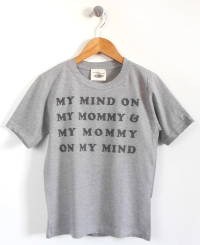 Mind on Mommy Kids T-Shirt in Grey