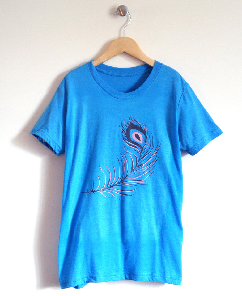Feather Kids T-Shirt in Blue