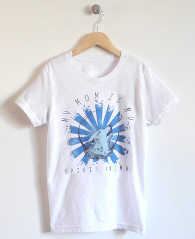 Spirit Animal Kids T-Shirt in White
