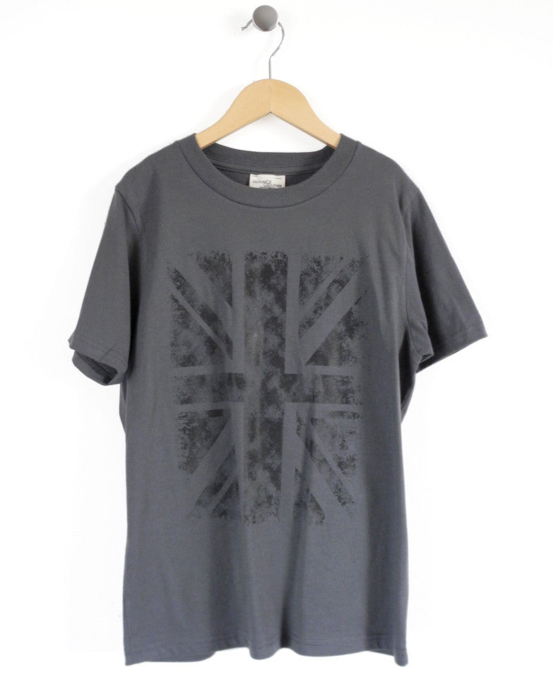 Union Jack Kids T-Shirt in Charcoal