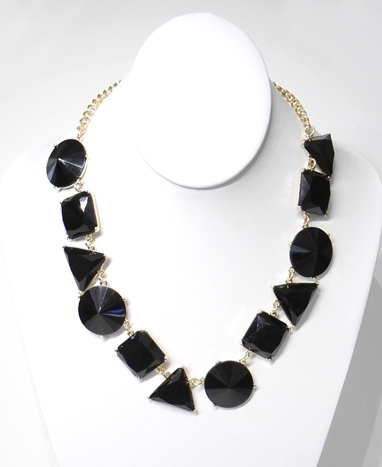 Geo Gem Statement Necklace
