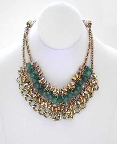 Glam Chunky Chain Bib Necklace