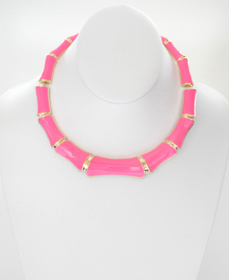Bamboo Pink Necklace