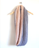 Fostoria Infinity Scarf in Natural/Grey