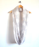 Crosstown Infinity Scarf in White