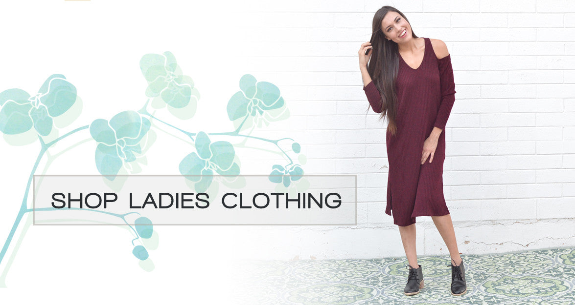 Shop pretty, cute, comfy and fashionable ladies clothing, dresses, tops and pants for mom.