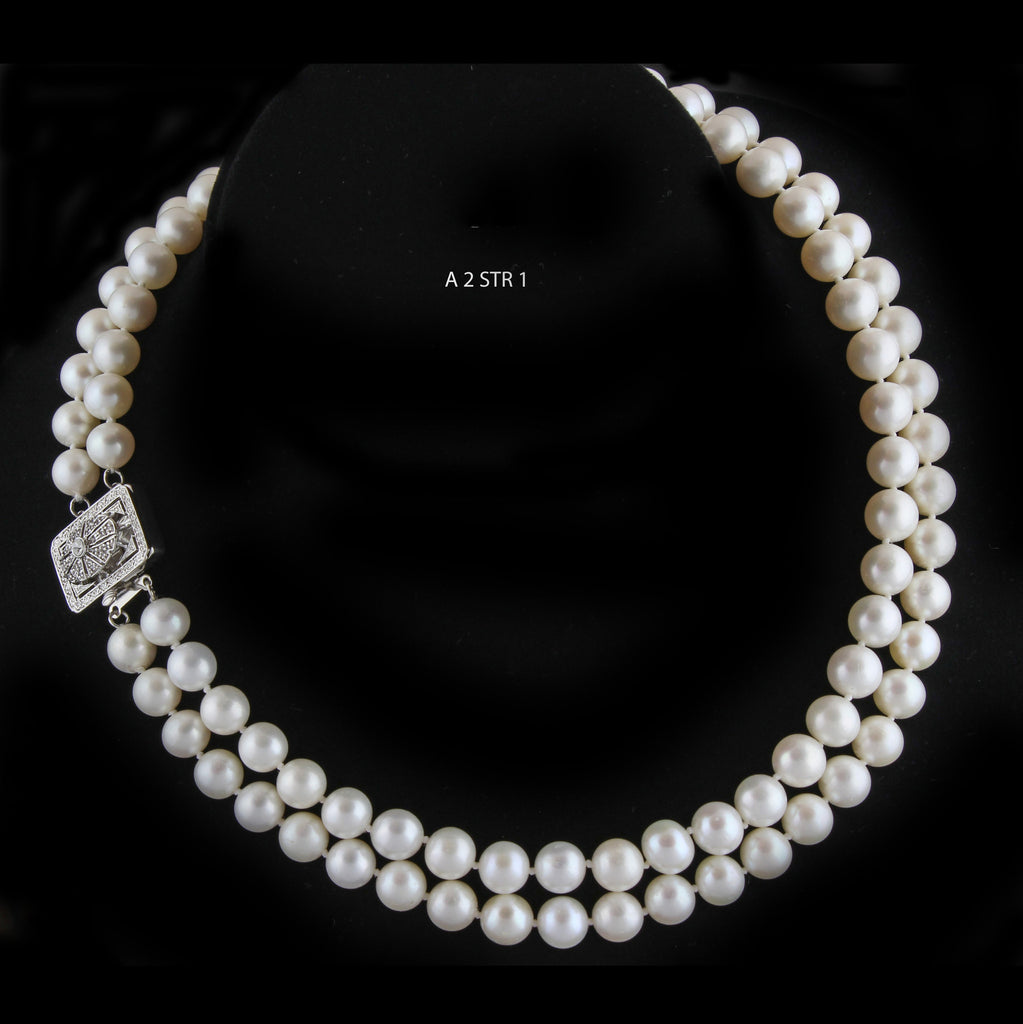 A Double Strand of 9 MM, AAA Freshwater Pearls Necklace.