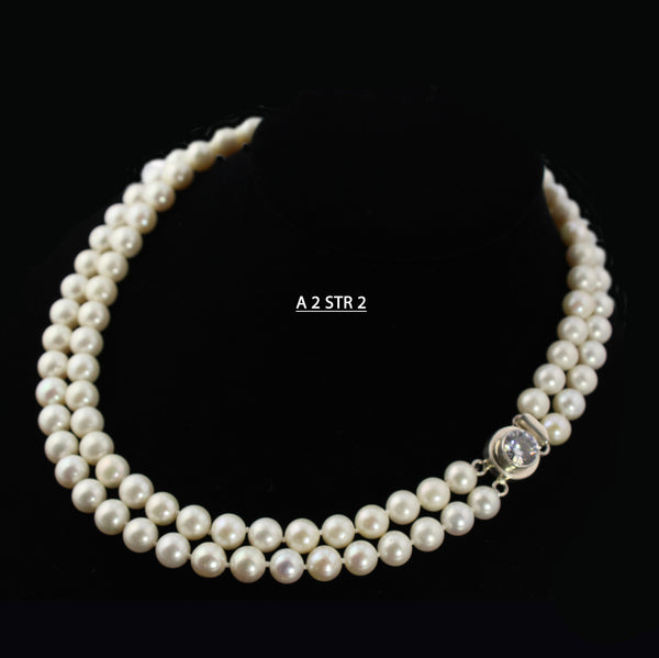 A Double Strand of AAA Freshwater Pearls Necklace.