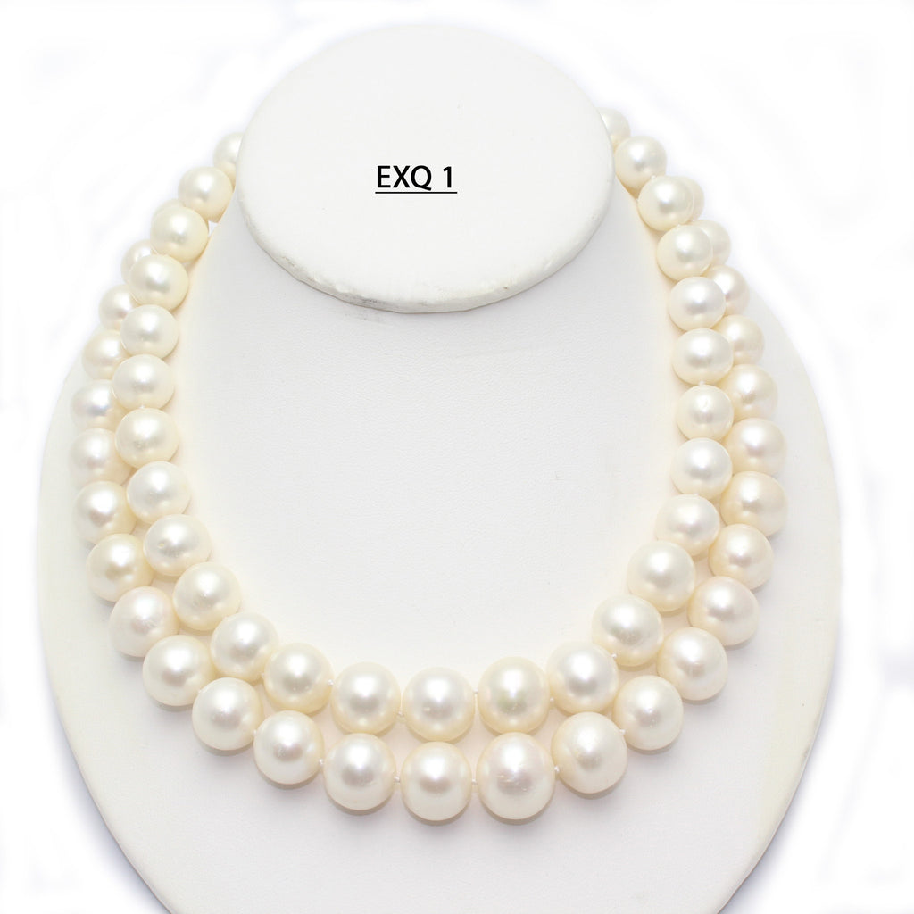 Spectacular Very Large Double Strand Freshwater Pearls Necklace