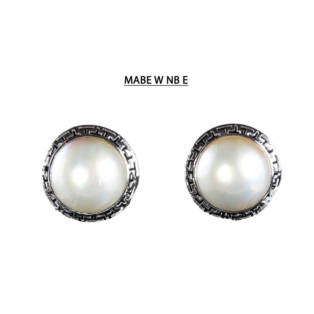 Unique No Blister Mabe Pearl Earrings