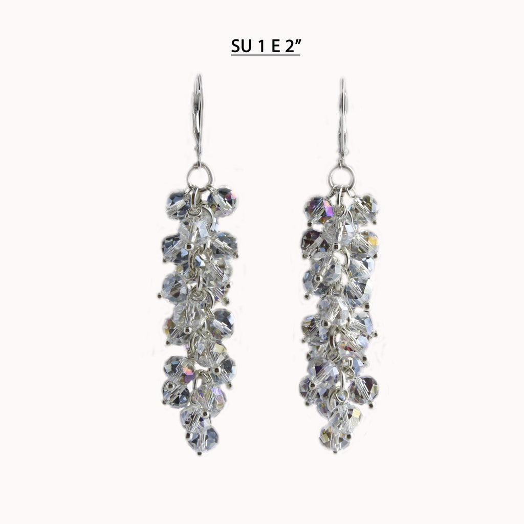 All Clear AB Crystal Earrings