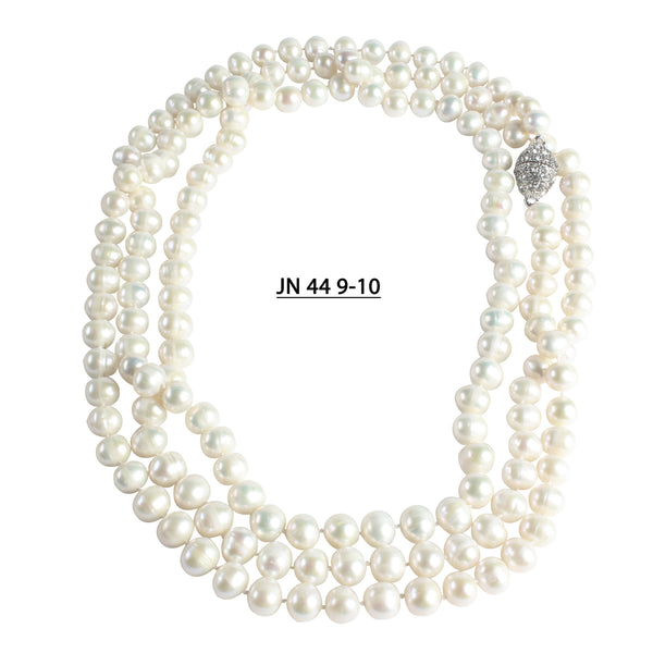 "60"" Strand of 9.5 to 11 MM Freshwater Pearls Necklace."
