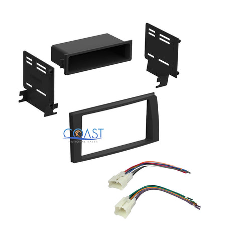 car stereo single din dash kit wiring harness for 2003 2008 car stereo single din dash kit wiring harness for 2003 2008 toyota corolla