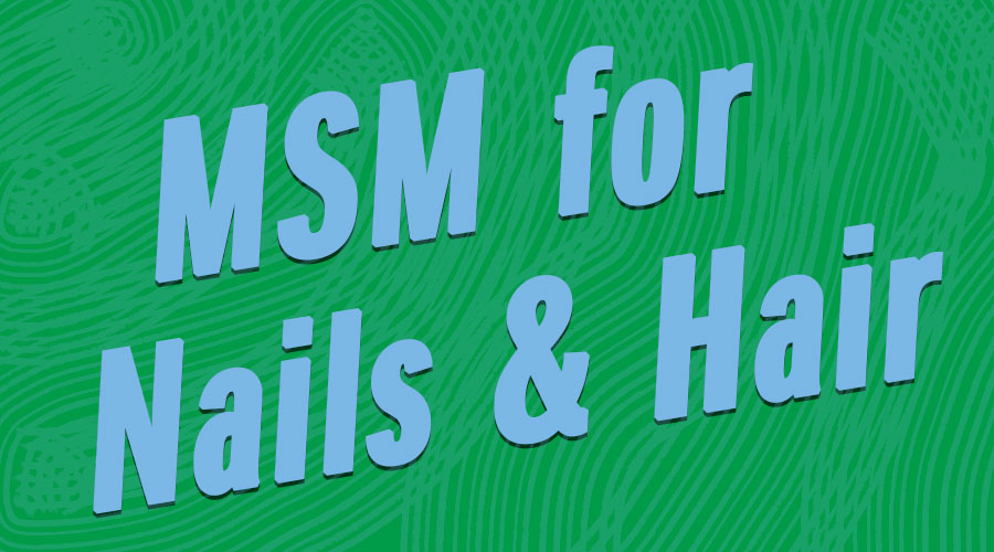 MSM Nails | MSM crystals help hair and nails