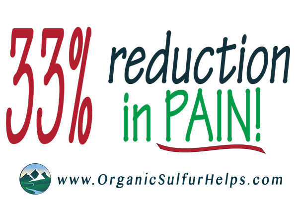 MSM Organic Sulfur can decrease your joint pain
